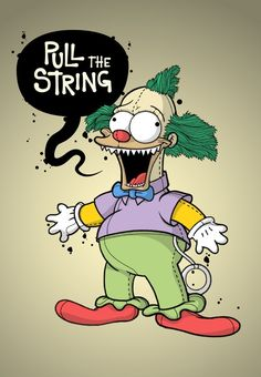 Krusty the Clown, The Simpsons: Treehouse of Horror Simpsons Drawings, Simpsons Art, Krusty Der Clown, Geek Mode, Es Der Clown, American Dad, 90s Cartoons, Futurama, Cartoon Art