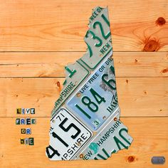 Mixed Media - New Hampshire License Plate Map Live Free Or Die Old Man Of The Mountain by Design Turnpike , Art Business Cards, Live Free Or Die, Mountain Designs, Old Men, Office Gifts, New Hampshire, Creative Art, Fine Art America, White Ceramics