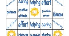 FREEGoodCharacterBingo.pdf Good Character Traits, Character Education, Sunday School, Middle School, Back To School, Preschool Classroom, Classroom Ideas, Seven Habits, Differentiated Instruction