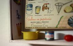 Cocina creativa (detalle). Caja de madera, técnica mixta. 31X21X8cm
