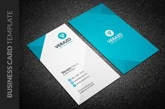 Clean Vertical Business Card by Verazo on @creativemarket