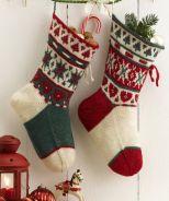 Weihnachtssocke im Norwegermuster Gratisanleitung CH023