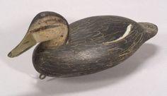 Carved and Painted Wooden Black Duck Decoy Decoy Carving, Wood Carving, Duck Decoys For Sale, Chincoteague Island, Shorebirds, Art Object, Tack, Fiber Art, Decorative Bowls