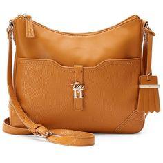 Tig II by Tignanello Emily Crossbody Bag ($41) ❤ liked on Polyvore featuring bags, handbags, shoulder bags, drk yellow, handbag purse, vegan handbags, purse shoulder bag, brown purse and shoulder strap bags