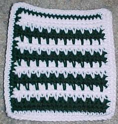 Spike Stitch Afghan Square Crochet Pattern - Free Crochet Pattern Courtesy of Crochetnmore.com