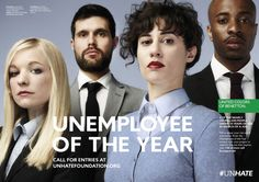"""Benetton Celebrates the Potential of Young People in """"Unemployee of the Year"""" Campaign Cannes, Social Campaign, Seo News, Call For Entry, Magazine Layout Design, Message Of Hope, Positive Messages, Marketing, Brand Identity"""