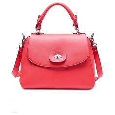 Elegant High Quality Leather Bags Watermelon Red
