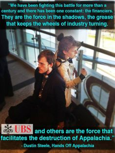 Mountaintop Removal Protests Against UBS Bank