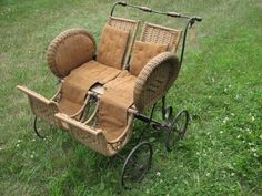 Antique twin carriage