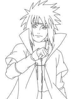 Naruto Coloring Pages Minato Namikaze - ScribbleFun Naruto Sketch Drawing, Naruto Drawings, Anime Drawings Sketches, Anime Sketch, Wallpaper Naruto Shippuden, Naruto Shippuden Sasuke, Anime Naruto, Kid Kakashi, Boruto Characters