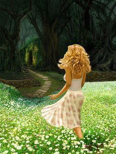 "Amazing art by Bob Nolin ""The Forbidden Forrest"""