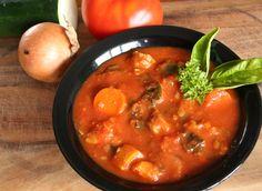 Zucchini, Sausage, Tomato Garden Stew (Gluten Free)