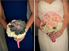 Deux de nos créations préférées de 2012... Dans l'ordre: Le bouquet de fille d'honneur et le bouquet de Sarah-Jeanne.