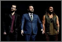 "Henry, Ben affelck, & Jason Momoa at ""CinemaCon 2017""....."