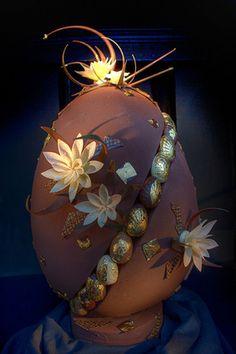 Easter egg - chocolate art