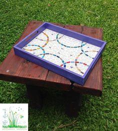 Artesanías Dorrego de Marcela Hermelo: 1/12/13 - 1/01/14 Mosaic Tray, Mosaic Tiles, Mosaic Crafts, Hobbies And Crafts, Stained Glass, Flora, Diy Crafts, Crafty, Mandala