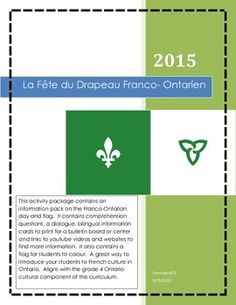 This activity package contains an information pack on the Franco-Ontarian day… Reading Comprehension Activities, Comprehension Questions, French School, French Class, English Activities, Music Activities, Core French, Bulletin Board, Mathematics