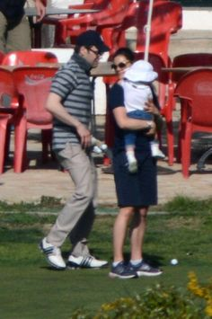 Princess Victoria of Sweden, husband Prince Daniel and their daughter Princess Estelle are seen during their holy week holidays on 2 March 2013 in Nijar, Spain.