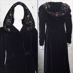 1930s 1940s Velvet opera Coat with fully by RBJacksonClothing