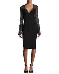 French+Lace+Cocktail+Dress+by+Nicholas+at+Neiman+Marcus.