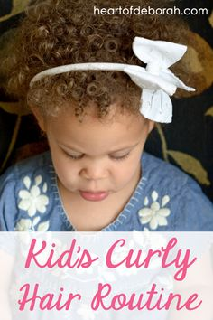 This post shares our favorite hair care products for naturally curly hair and our kid's curly hair routine. Our daughter is biracial and has dense curls! Here are 7 hair care steps to make her curls beautiful.
