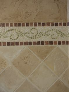 How to:  How to make Faux Mosaic and Stone tiles using Joint Compound - Tutorial  also includes faux stone painting technique. diagon tile, decor, idea, paint faux mosaic tile, faux tile, stone painting, stone tile, diy, mosaic border