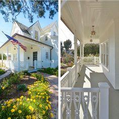 Love the wraparound porch. (House For Sale in Manhattan Beach.)