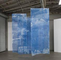 The Blue of Distance, Cyanotypes on Silk, ~ each, 2018 Sculpture Textile, Decoration Evenementielle, Sun Prints, Night Gallery, Textiles, Cyanotype, Silk Painting, Fabric Art, Installation Art