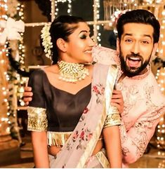 Tv Actors, Actors & Actresses, Cute Celebrities, Celebs, Best Bollywood Movies, Nakul Mehta, Saree Draping Styles, Surbhi Chandna, Stylish Dpz