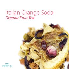 Our Italian Orange Soda, Organic Fruit Tea brings us right back to childhood! Try it iced and add sparkling water for an incredible fizzy refresher.