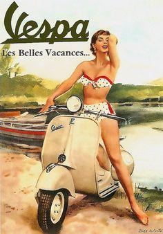 Old School Vespa Posters