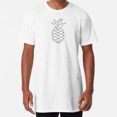 « Ananas Noir et Blanc » par LenysEcoHome | Redbubble T Shirt Long, Gold Pineapple, Golden Color, Mens Tops, Fashion, Pineapple, Black N White, Moda, Fashion Styles