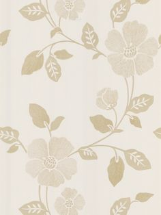 Poppy Modern Floral Wallpaper in Beige by Brewster Home Fashions