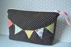 bunting and polka dot