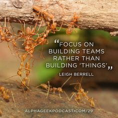 """Focus on building teams rather than building 'things'"". — Leigh Berrell  #leighberrell"