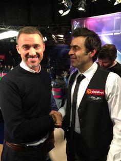 Two snooker greats - Stephen Hendry and Ronnie O'Sullivan Billard Snooker, Ronnie O'sullivan, James Martin, Past Present Future, Pool Table, Legends, Memories, God, Stars