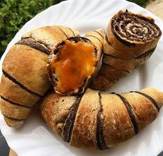Szafi Free expressz csíkos csiga/croissant élesztővel (zsírszegény, gluténmentes, tejmentes, tojásmentes, vegán) – Éhezésmentes karcsúság Szafival Croissant, Healthy Desserts, Muffin, Gluten, Sweets, Vegan, Breakfast, Cake, Recipes
