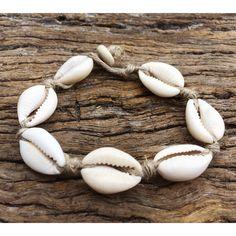 Handmade Hemp Bracelet with Cowrie Shells, Medium Wrist ($6.20) ❤ liked on Polyvore featuring jewelry, bracelets, seashell jewelry, hemp jewelry, sea shell jewelry, shell bangles and shell jewelry