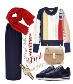"""""""#Hijab_outfits #modesty #Casual #Burberry"""" by mennah-ibrahim on Polyvore featuring Burberry, Escada Sport, Salvatore Ferragamo, NIKE and Chloé"""
