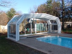 Retractable Enclosures is the most common enclosure surrounding homes and swimming pools. Swimming pool fences blend well with older or modern house designs and can simply be utilized as a enclosure for your front or backyard as well.  http://www.automaticpoolenclosure.com/