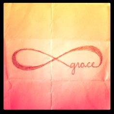 """infinite grace"" - sketch of what could be my 3rd tattoo but instead of grace, might do the word faith, foot or shoulder?"