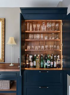 49 ideas home bar interior cabinets for 2019 Bar Interior, Interior Design, Country House Interior, Country Houses, Deco Cool, Bar Shelves, Pantry Shelving, Open Shelves, Muebles Living