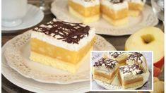 Luxus na talířku: Jablečné řezy s tvarohovou šlehačkou – lepší krémový zákusek jsem ještě nejedla! Cupcakes, Pudding, Tiramisu, Sweet Tooth, Cheesecake, Favorite Recipes, Ethnic Recipes, Thermomix, Cupcake