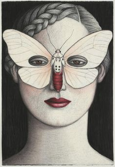Amerila Alberti Moth Mask by Deborah Klein, Australia