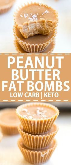 Peanut Butter Fat Bombs are a low carb keto recipe. This easy snack recipe is ma. Peanut Butter Fat Bombs are a low carb keto recipe. This easy snac. Keto Fat, Low Carb Keto, Lchf, High Fat Keto Foods, Low Fat Low Carb, Dessert Ig Bas, Dessert Oreo, Cheese Dessert, Peanut Butter