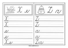 Učíme sa písať písané a tlačené písmenká - Nasedeticky. Handwriting Practice, Alphabet, Bullet Journal, Math Equations, Reading, School, Google, Calligraphy Practice, Alpha Bet