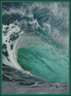 An Ocean's Wave  -  Counted Needle Point and Cross Stitch Chart Patterns offered at www.etsy.com/listing/222781689.
