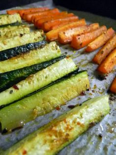 Carrot and Zucchini  Fries  -- roasted in oven  These are awesome!!!!