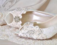 Wedding Shoes Womens Shoes PBT-0826A Vintage Wedding Lace