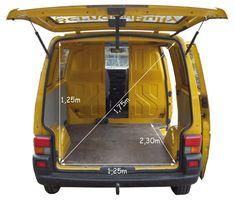 Short wheelbase Volkswagen T4 Transporter dimensions